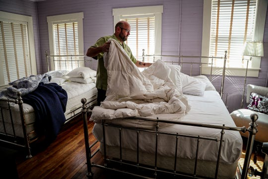 Brooks is taking this time and doing a deep clean on his five rooms. The impact of the coronavirus pandemic on the hotel industry has been wide. Many area hotels have lost a lot of revenue and visitors due to the pandemic. The Hibiscus House Bed and Breakfast in downtown Fort Myers is feeling the squeeze. Its owner, Bob Brooks has lost a lot of bookings and money due to people not traveling and using hotels less during the pandemic. Like a lot of local hoteliers, he is trying to ride out the storm and come out with his business intact.
