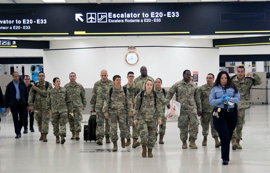 Tuesday, Florida National Guard troops were being deployed to assist the Florida Department of Health administer health screening questionnaires at five major airports in the state, Fort Lauderdale-Hollywood International Airport, Miami International Airport, Orlando International Airport, Jacksonville International Airport, and Tampa International Airport, to passengers coming from high-risk #COVID19 areas.