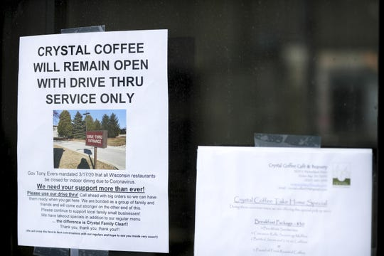 Crystal Coffee Cafe and Beanery in Ashwaubenon misses having customers play cribbage and bridge inside its business but has been touched by the community support as it switched over to drive-thru only service during the coronavirus outbreak.