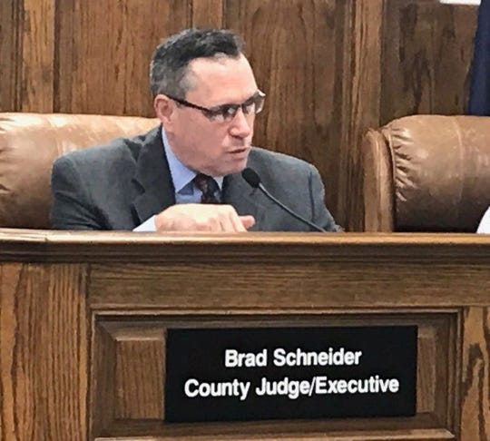 Henderson County Judge-executive Brad Schneider declares a state of emergency for Henderson County (March 23, 2020).