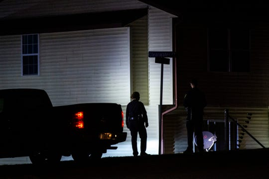 Iowa City police respond to a call of shots fired, Monday, March 23, 2020, near the 2400 Block of Shady Glen Court in Iowa City, Iowa.