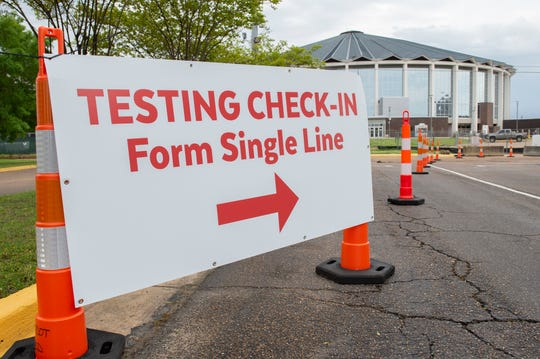 People who have an appointment at the COVID-19 specimen collection site at the Mississippi State Fairgrounds will enter at High Street and will soon see signs to lead the way. A test run was performed at the site on Monday, March 23, 2020.