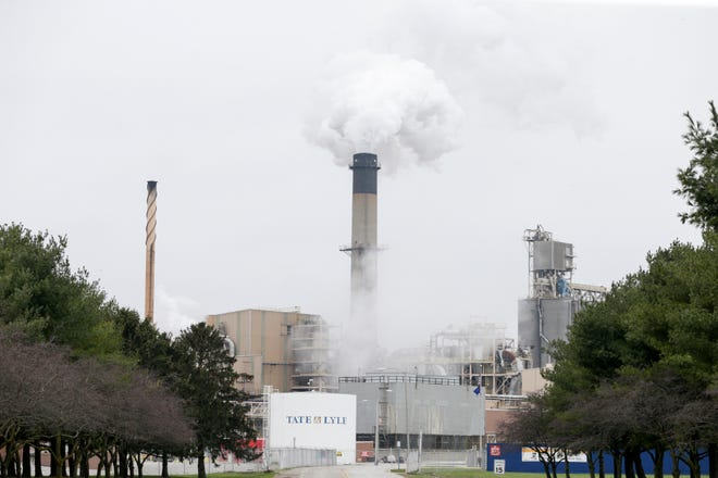 Steam billows from the Tate & Lyle South Plant, Tuesday, March 24, 2020 in Lafayette.