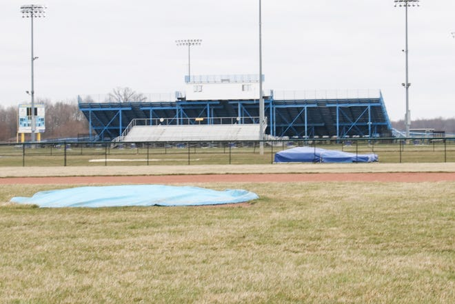 The baseball field and track at River Valley have no activity late last week as high school sports is in the midst of a shutdown in the wake of the coronavirus pandemic.