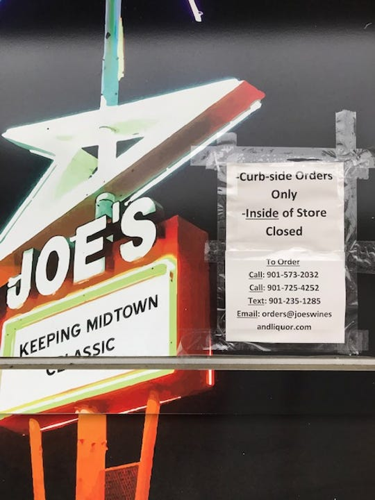 Joe's Wines & Liquor is now only allowing curb-side pickup in an effort to reduce the number of people in their store during the spread of the deadly coronavirus. Joe's, along with other liquor stores, will be allowed to stay open during Memphis shelter-in-place order.