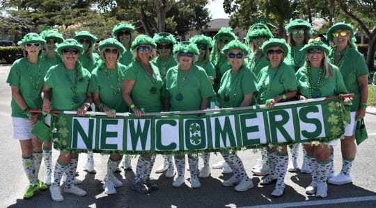The Newcomers celebrated St. Patrick's Day by participating in the Marco Island St. Patrick's Day Parade.