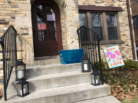 A Wauwatosa woman helped organize a mask dropoff at her home in the Ravenswood Neighborhood of Wauwatosa.
