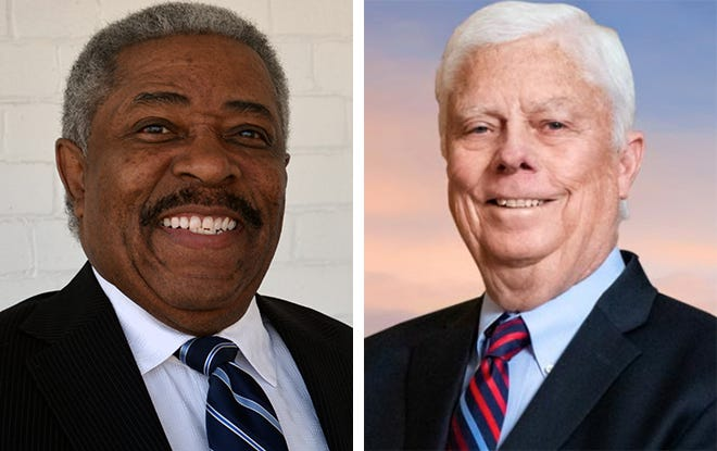 Milwaukee city attorney candidates Tearman Spencer, left, and incumbent Grant Langley, right.