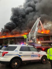 Nashville and Goodlettsville fire crews battled a massive apartment complex fire in the 400 block of Moss Trail on Tuesday, March 25, 2020.