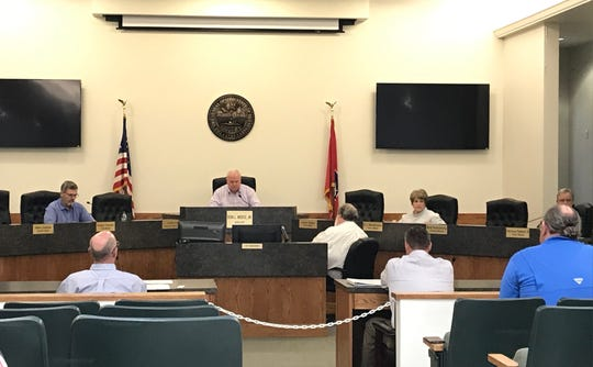 The Dickson Council at its special session meeting Monday night.