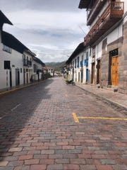 The empty streets of Cusco, Peru after the country is shutdown because of COVID-19