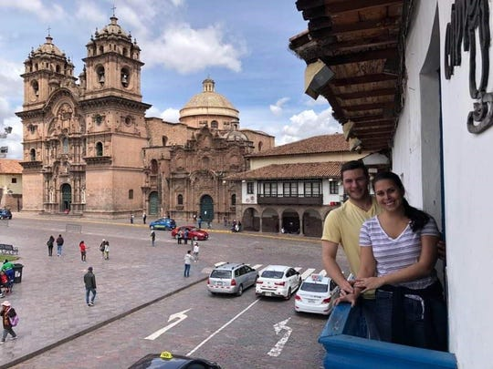Luke and Fatima Walsh in Cusco, Peru.
