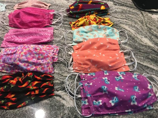 Liz Gonzales and a group of friends sewed over 120 face masks and sent them to to her daughter, Dr. Janae Gonzales Gilpin and her colleagues in Chicago.