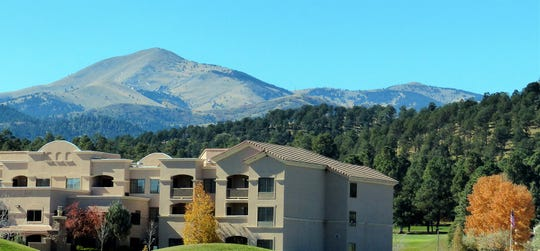MCM Elegante Lodge and Resort offers visitors a spectacular view of Sierra Blanca Peak.
