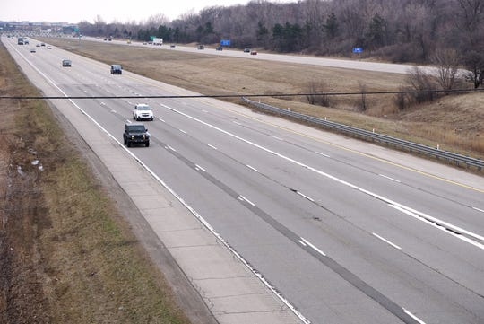 Much lighter-than-usual traffic on I-275 south at Five Mile around lunch time is one effect of Michigan's closing non-essential businesses and the order to stay home.