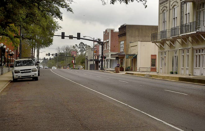 On any given Tuesday by mid-morning Landry Street in downtown Opelousas is alive with activity. Not so on this Tuesday morning.