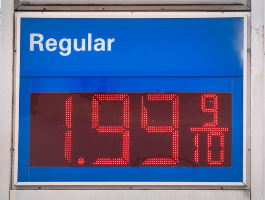 Regular was $1.99 at the Exxon at the intersection of Route 851 and the Susquehanna Trail in Shrewsbury.