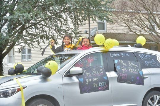 "One Greencastle family decked out their car in balloons and posters supporting their teachers. On Tuesday morning, Greencastle-Antrim teachers drove through multiple neighborhoods in the area as an opportunity to connect with students during the coronavirus pandemic. ""We are missing our students as much as they (hopefully) are missing us,"" Katie Kline, a Greencastle-Antrim teacher wrote on Facebook. ""We're coming to wave to all our friends and see you all again!"" Families practiced social distancing as they lined up around Greencastle, decorated their cars, held up posters and waved at their teachers. Governor Wolf has ordered a statewide closure of schools until at least April 6."