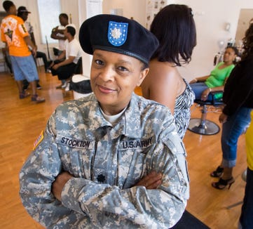 Sandra Smallwood-Stockton retired from the U.S. Army as a lieutenant colonel in 2008. She worked most of her military service as a nurse.