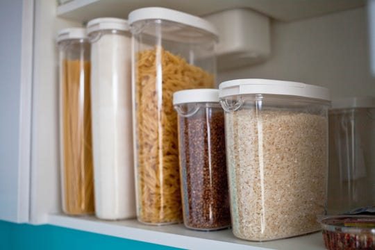 Dried pastas, beans and grains are essentials in a well-stocked pantry.