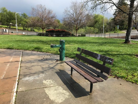 Coronavirus: This neighborhood park on Peppertree Lane, off Hilltop Drive in Redding sat empty Tuesday afternoon, March 24, 2020.