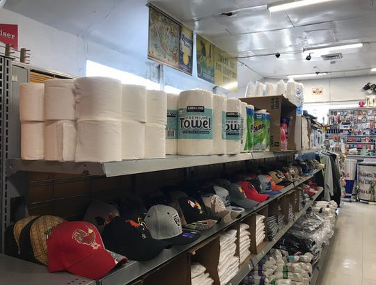 The Alisal Market is reselling packs of Kirkland premium towels and single rolls of bath tissue. The bath tissue is being sold individually fro $1.25 according to an Alisal Market employee.