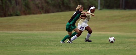Former San Angelo Lake View athlete Heaven Robinson (20) plays for Converse College soccer. A 2017 Lake View graduate, Robinson was named to the Conference Carolinas Presidential Honor Roll for Spring 2020.