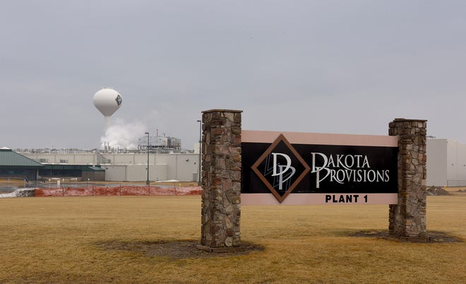 The Dakota Provisions meat processing plant in Huron, South Dakota on Sunday, March 22.