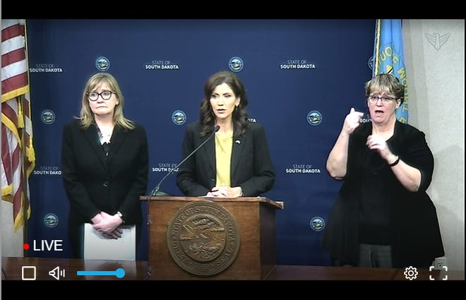 Gov. Kristi Noem provides update on coronavirus in South Dakota