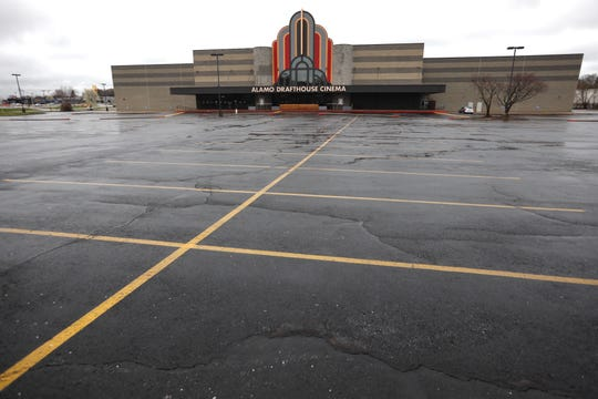 The parking lot was empty at Springfield Alamo Drafthouse Cinema, 4005 South Avenue, on Tuesday, March 24, 2020.