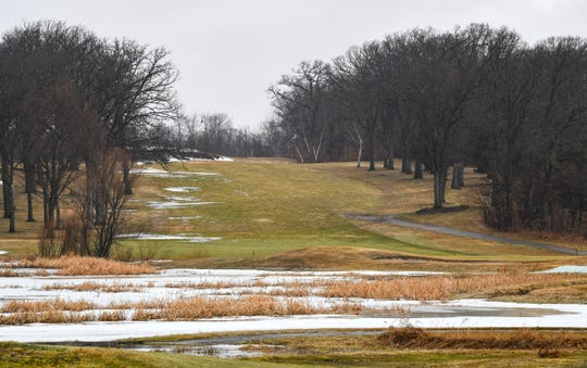 Most of the snow is melted on a portion of the course Tuesday, March 24, 2020, at Blackberry Ridge Golf Club in Sartell.