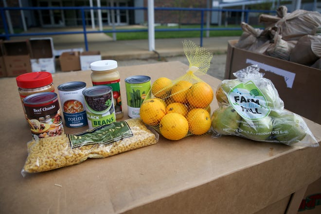Those who received a supplemental food kit from Second Harvest of the Big Bend will get a variety of canned goods, a bag of noodles, a bag of oranges and a bag of pears.