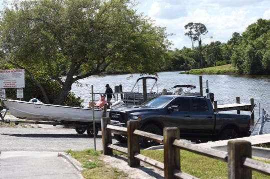 Boaters launch onto the North Fork of the St. Lucie River at River Park Marina on Prima Vista Boulevard in Port St. Lucie Tuesday, March 24, 2020.