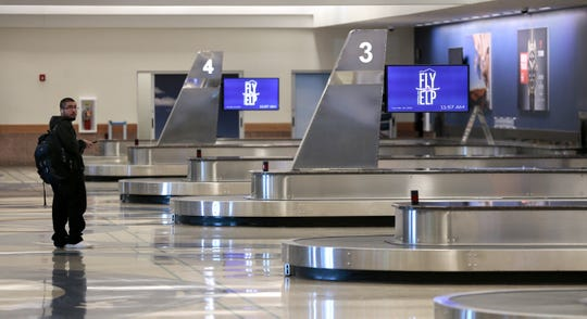The El Paso International Airport is seeing severely reduced numbers of travelers after fear of COVID-19 took grip of the United States.