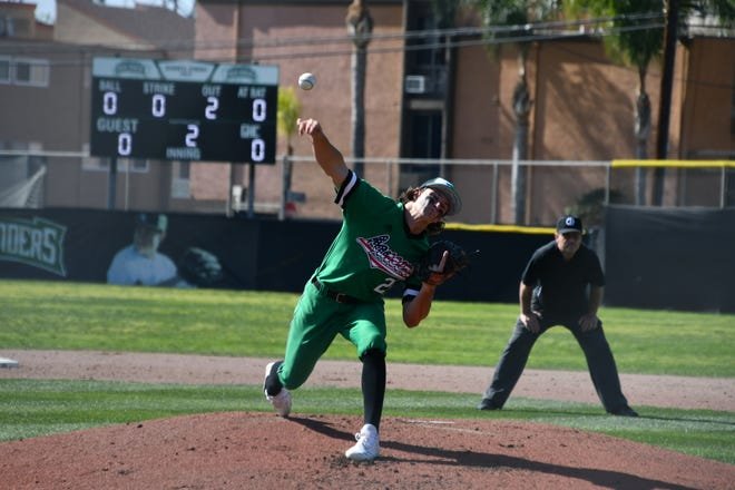 Scott Ellis had with 24 strikeouts in 24 innings and a 2.01 ERA for Thousand Oaks before the season was cut short.