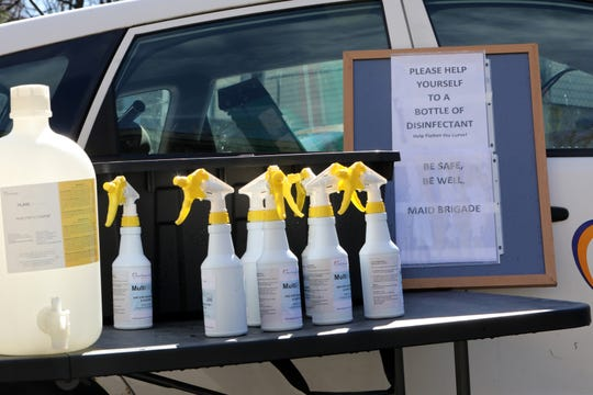 Maid Brigade, a cleaning service in Valhalla, is offering the community curbside hospital-grade disinfectant for anyone that needs March 24, 2020 in Valhalla, NY. When owners Robin and Gary Murphy noticed that people couldn't find disinfectant they decided to help those in need.