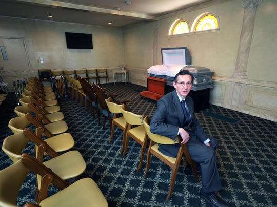 Mark A. Flower, the manager of the Flower Funeral Home on Yonkers Avenue in Yonkers, is photographed March 24, 2020.
