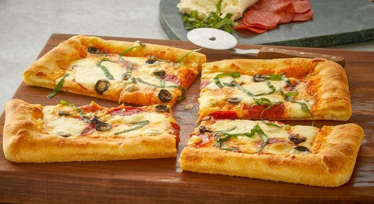 String Cheese Stuffed Pizza