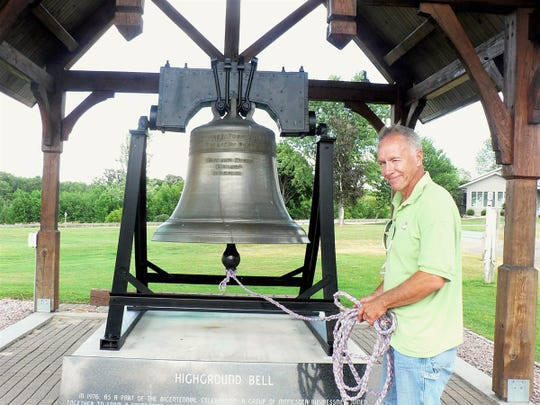 Jim Henchen,  Neilsville, an active volunteer  at The Highground and the famed Liberty Bell replica.