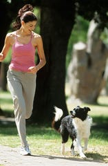 You can take your dog out for a jog and exercise some social distancing.