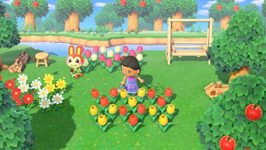 A scene from the video game 'Animal Crossing: New Horizons.'