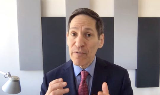Dr. Tom Frieden speaks with USA TODAY reporter Ken Alltucker in a video interview on March 24, 2020.