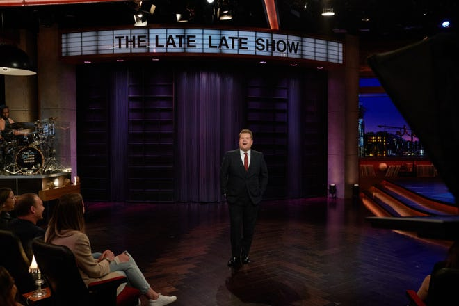 James Corden acknowledged his fifth anniversary as host of CBS' 'The Late Late Show' as the show, like its late-night colleagues, remains shut down due to the coronavirus threat.