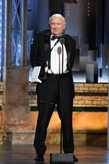 Terrence McNally accepts the special tony award for lifetime achievement during the 73rd Annual Tony Awards ceremony at Radio City Music Hall in June of 2019.