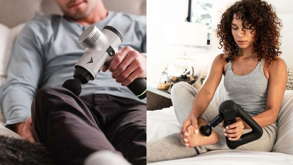 Target sore muscles with the massage gun that fitness lovers are obsessed with.