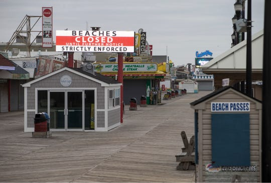 The beach is now off limits in Seaside Heights. The closure was meant to further the state's social distancing efforts. The borough's famed boardwalk remains open for now, but officials are monitoring the situation to see if a closure is necessary. Seaside Heights, NJWednesday, March 25, 2020