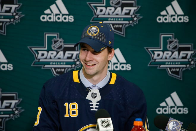 Mattias Samuelsson was a second-round draft pick of the Sabres in 2018. He played two years at Western Michigan University before turning pro.