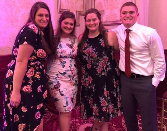 Quadruplets, from left, Kelsey, Katharyn, Kaeleigh & Zachary Mackiewicz, all seniors at Cinnaminson High School, are confined in their home this week because of the COVID-19 related school closures in New Jersey.
