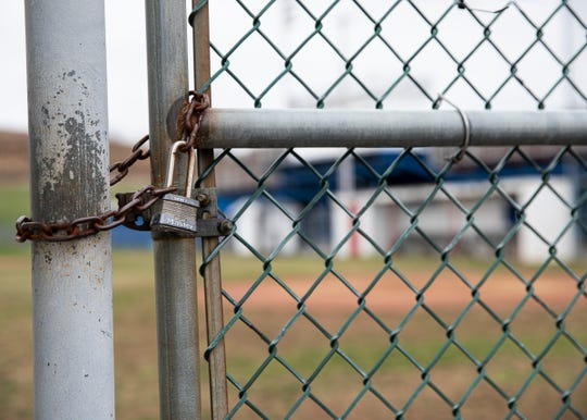 Baseball fields around the state remain locked since OHSAA called for a statewide athletics ban due to the outbreak of the coronavirus nationwide.