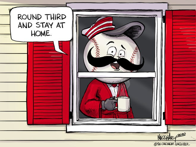 How Mr. Redlegs is practicing social distancing